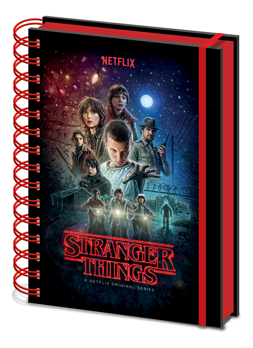 Blok / zápisník Stranger Things
