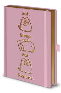 Blok / zápisník Pusheen - Eat. Sleep. Eat. Repeat.