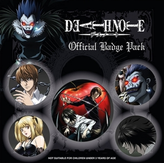 Set 5 placek Death Note (Zápisník smrti)