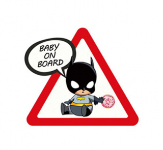 Samolepka (na auto, notebook) Baby On Board - Batman
