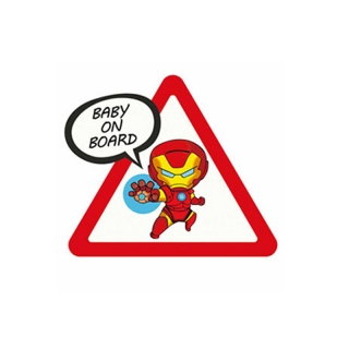 Samolepka (na auto, notebook) Baby On Board - Iron-Man