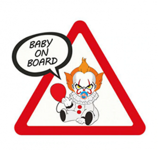 Samolepka (na auto, notebook) Baby On Board - Pennywise