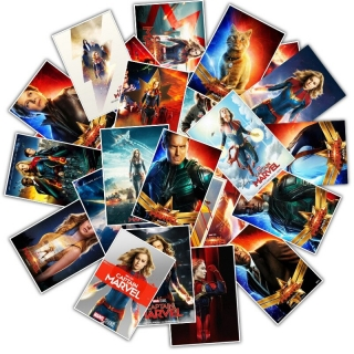 Set 25 samolepek Captain Marvel