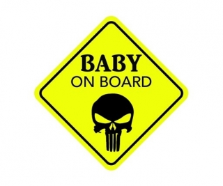 Samolepka (na auto, notebook) Baby On Board - Punisher