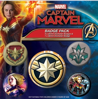 Set 5 placek Captain Marvel