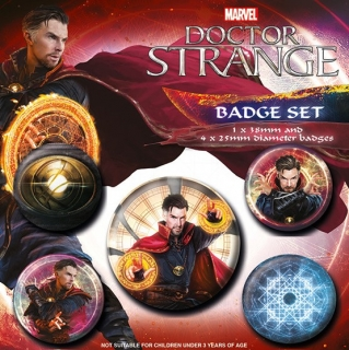 Set 5 placek Doctor Strange