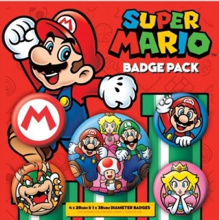 Set 5 placek Super Mario
