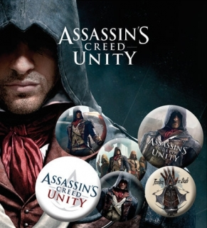 Set 6 placek Assassin's Creed Unity
